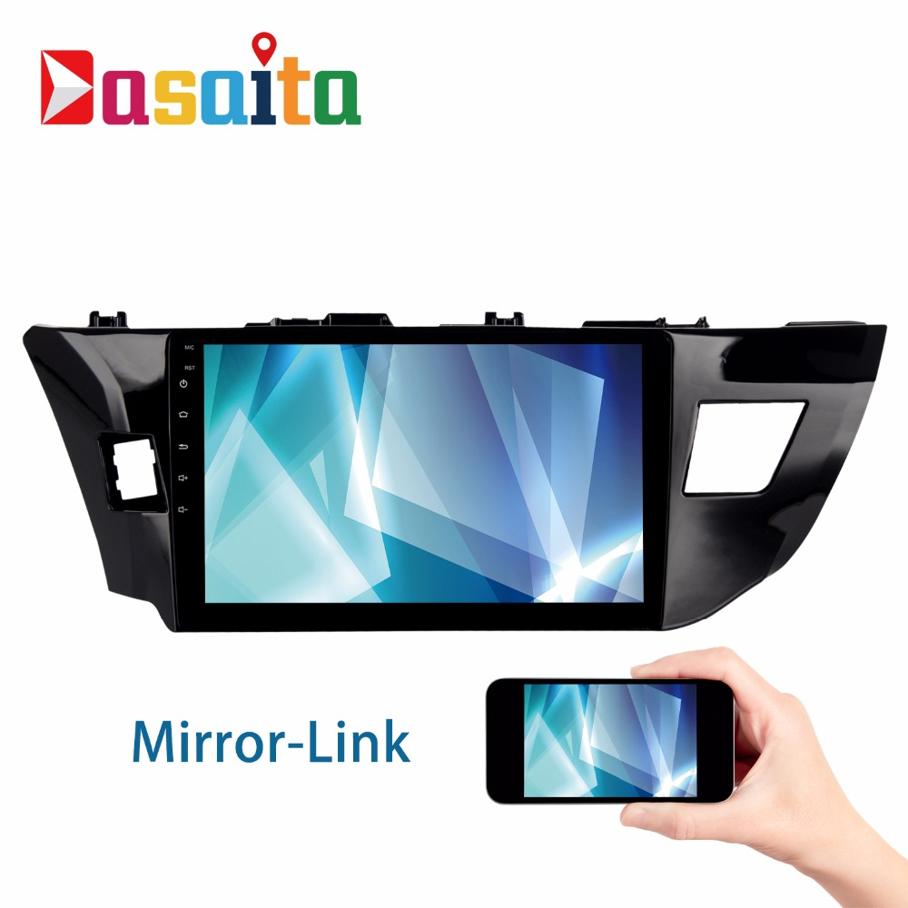 Android 6 0 2din car gps player navi for toyota corolla 2014 2016 altis axio with