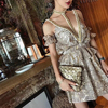 Newest Celebrity Party Women Jumpsuit Short Sleeve Off The Shouler V Neck Hot Sexy Runway Playsuits