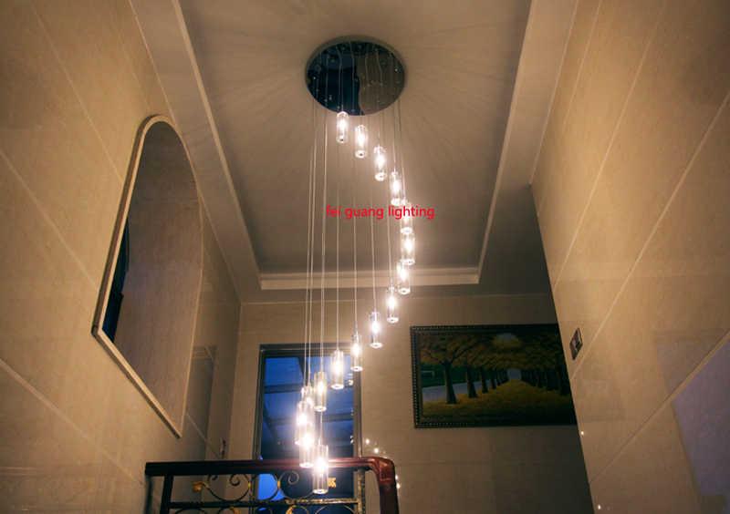Люстра led Современная Гостиная лампы хрустальные Люстра со светодиодной лампой освещение лестницы длинные хрустальные спиральные люстры свет дома