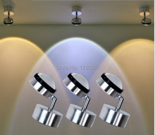 3W Quality modern  adjustable spotlights sofa tv wall lights led aluminum crystal painting corridor rotatable light