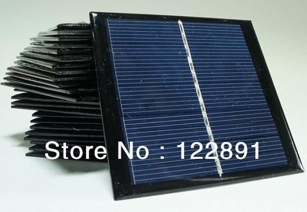 Wholesale! 5pcs/lot  5.5V 0.77W 140mA Mini Solar Panels Small Solar Power 3.6v Battery Charger Solar Cell 95*95 Free Shipping