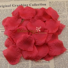 1000pcs Red Colors Artificial Silk Wedding Rose Red Petalas Romantic Decoration