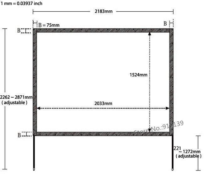 80x60 inch Zichtbaar Size 4:3 Achter Projectiescherm Snelle Vouwen ...