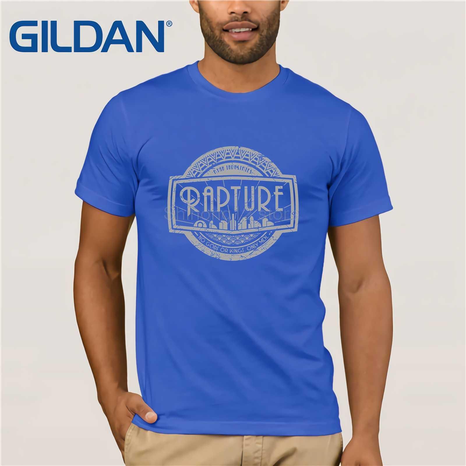 Gildan t shirt 2019 Fashion men t-shirt gildan Bioshock - Rapture (Silver)  T-Shirt