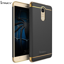 For Xiaomi Redmi Note 3 Case Original IPAKY Redmi Note 3 Pro Prime Hard PC Back Cover + Plating Frame For Xiaomi Note3 Case 5.5″