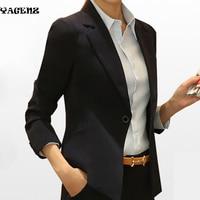 Leisure Lady Suits 2017New European Fashion Women Blazer Jacket Spring Autumn Black Long Sleeve Office Lady