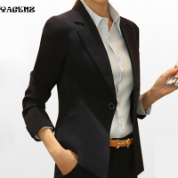Leisure Lady Suits 2017New European Fashion Women Blazer Jacket Spring Autumn Black Long Sleeve Office Lady