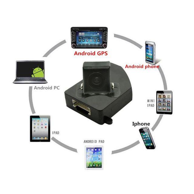 Wi-fi Sem Fio Da Câmera Do Carro Câmera de Visão Traseira Do Veículo Câmera Traseira para GPS Do telefone Móvel Tablet Casa de segurança À Prova D' Água Visão Noturna