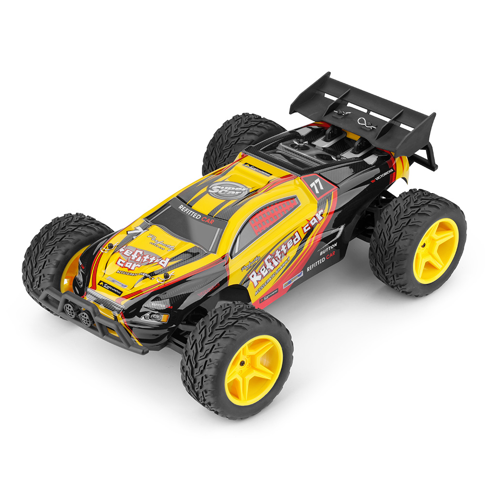 2.4GHz Wireless Remote Control Toy 1:10 Scale RC Off-Road Car Electric Brushed 2WD 30km/H Fast Speed Off-Road 2 WD RC Car