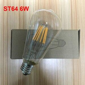 Image 4 - E27 AC110V 220V Vintage ST64 LED ampul dim 2W 4W 6W 8W Filament Edison LED 2300K 2700K 6000K sarı sıcak soğuk beyaz renk