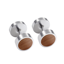 1 пара серебряная серьга-гвоздики для мужчин унисекс из нержавеющей стали с деревянным ушным пирсингом штанги серьги-гвоздики для женщин Рождественский подарок