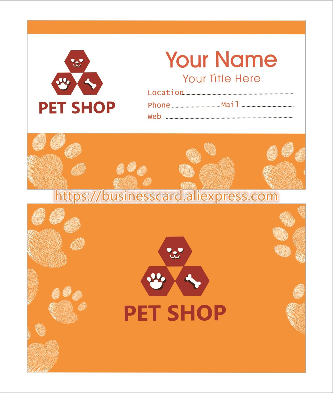 Plantilla para pet shop perro Tarjeta de papel negocio diseño libre ...