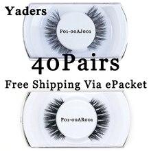YADERS 40 Pairs EyeLashes Free Shipping Via ePacket 3D Mink Lashes False Eyelashes Makeup Tools Fake Eyelashes AAAAG