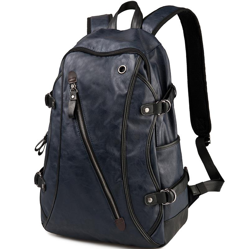 UIYI Brand 2019 Men Travel School Backpacks Hiking For Teenagers Casual Female Leather Large Laptop Student