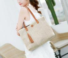 Womens Woven Handbags Fashionable Beach Straw Bag Natural Simple Single Shoulder Large For Outdoor Brand New