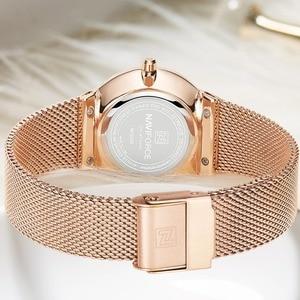 Image 5 - Nova naviforce mulheres marca de luxo relógio simples quartzo senhora relógio de pulso à prova dfemale água moda feminina relógios casuais reloj mujer