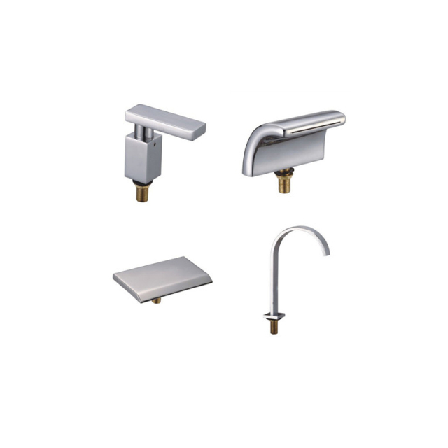 Copper Split Bathtub Faucet Waterfall Outlet Water Tap Water Separator, Bathroom  Faucet Accessories Chrome Plated