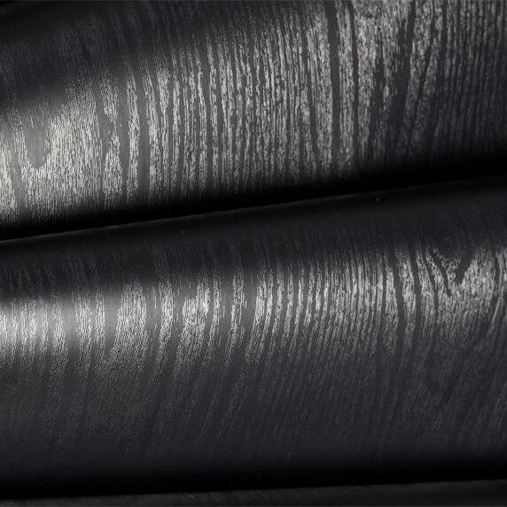 Decals Black Textured Wood Looking Self Adhesive Wallpaper