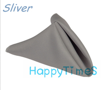Beatiful Polyester Napkins For Wedding And Banquet 100pcs/lot In Silver Color