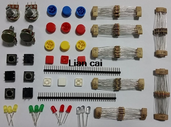 Demo Board Accessories Demo Board & Accessories Resistor Kit Starter Set Kit For Uno R3 Led Light Potentiometer Tact Switch 40 Pin Header Resistors For Raspberry Pi 3 Grade Products According To Quality