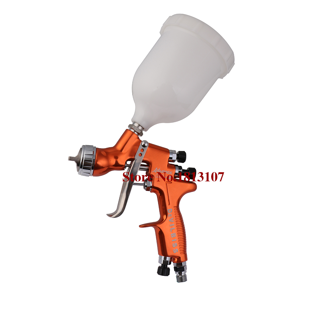 HD-2 HVLP Devilbiss Spray Gun Gravity Feed for all Auto Paint ,Topcoat and Touch-Up with 600cc Plastic Paint Cup samer e887 hvlp paint spray gun for all auto paint topcoat and touch up with 600ml plastic paint cup high atomization