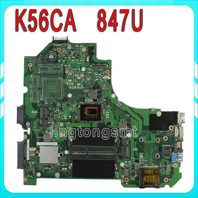 Original for ASUS K56CA motherboard 847 CPU integrated Fully tested 100% working g41 motherboard fully integrated core 775 cpu ddr3 ram belt 4 vxd ide usb 100% tested perfect quality