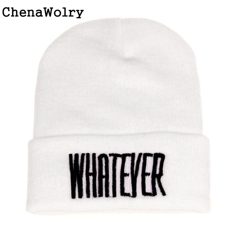 ChenaWolry 1PC Soft and Fashionable New fashion design Winter Black Whatever Beanie Hat And Snapback Men And Women Cap Oct 11 shocking show 2016 new design winter black whatever beanie hat and snapback men and women cap