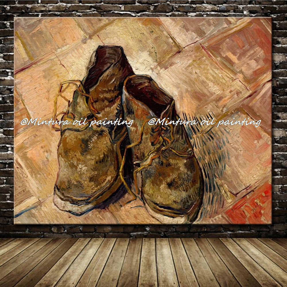 US $121.5 10% OFF|Pair Of Shoes By Vincent Van Gogh 100%Handmade Reproduction Oil Painting On Canvas Wall Art Picture For Home Decoration HY141470 in