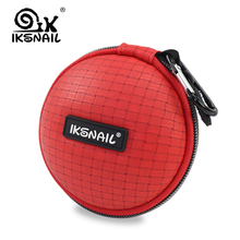 IKSNAIL Colorful Earphone Bags Portable Hold Case Round Storage Carrying Hard Bag Box For Headphone Earbuds Memory Card