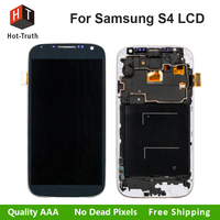 Hot Truth 2Pcs Lot Super Quality LCD For Samsung Galaxy S4 I9500 I9505 I337 M919 Touch