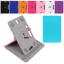 360 Degree Rotating Universal Tablet Case PU Leather Cover For Samsung Galaxy Tab 7 8 9 10.1 inch Android Tablet PC(China)