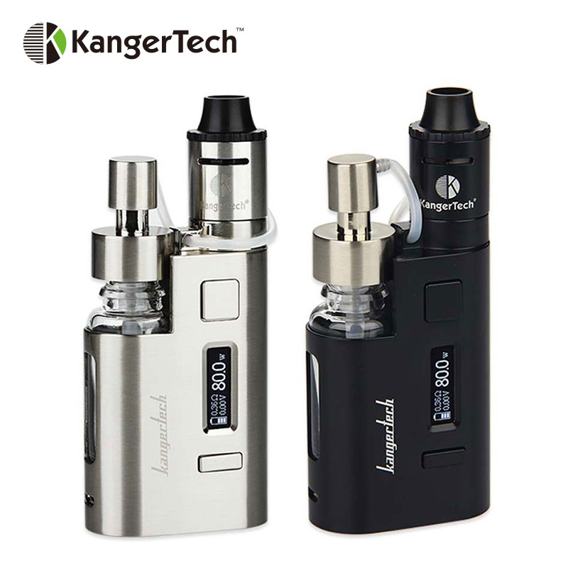 Original 80w Kanger DripEZ Starter Kit Box Vape Mod w/ Pump And Push RBA 0.3Ohm Drip coil 0.2Ohm Drip EZ Kit E Cigarettes