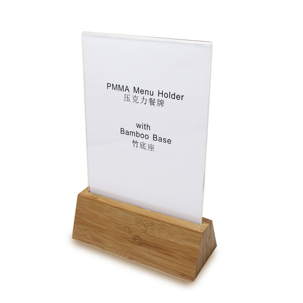 Triangle Shape Wood Menu Holder Base Bamboo Sign Holder Base Table Tents-in Bar Tables from Furniture on Aliexpress.com | Alibaba Group  sc 1 st  AliExpress.com & Triangle Shape Wood Menu Holder Base Bamboo Sign Holder Base ...