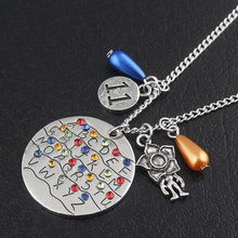 RJ Stranger Things Necklaces Alphabet Light Wall Monster 11 Letter Snakes Charms Pendant Lady Cosplay & Halloween Movie Jewelry
