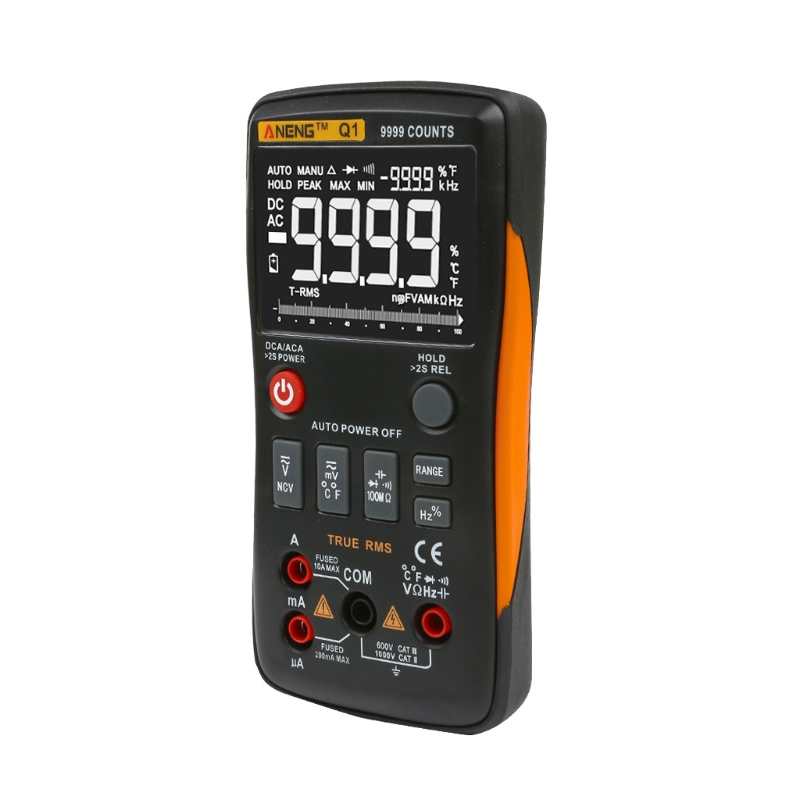 Q1 True-RMS Digital Multimeter Button 9999 Counts Analog Bar Graph AC/DC Tester bichot charles edmond graph partitioning