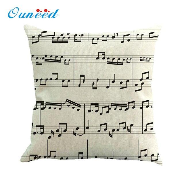 45x45 cm Nota Musicale Biancheria Pittura A Fodere per Cuscini Coperte e Plaid C