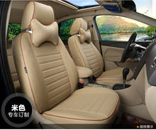 цена на TO YOUR TASTE auto accessories custom luxury leather CAR SEAT COVER durable for HONDA Fit Odyssey CR-V ACCORD CIVIC STREAM CITY