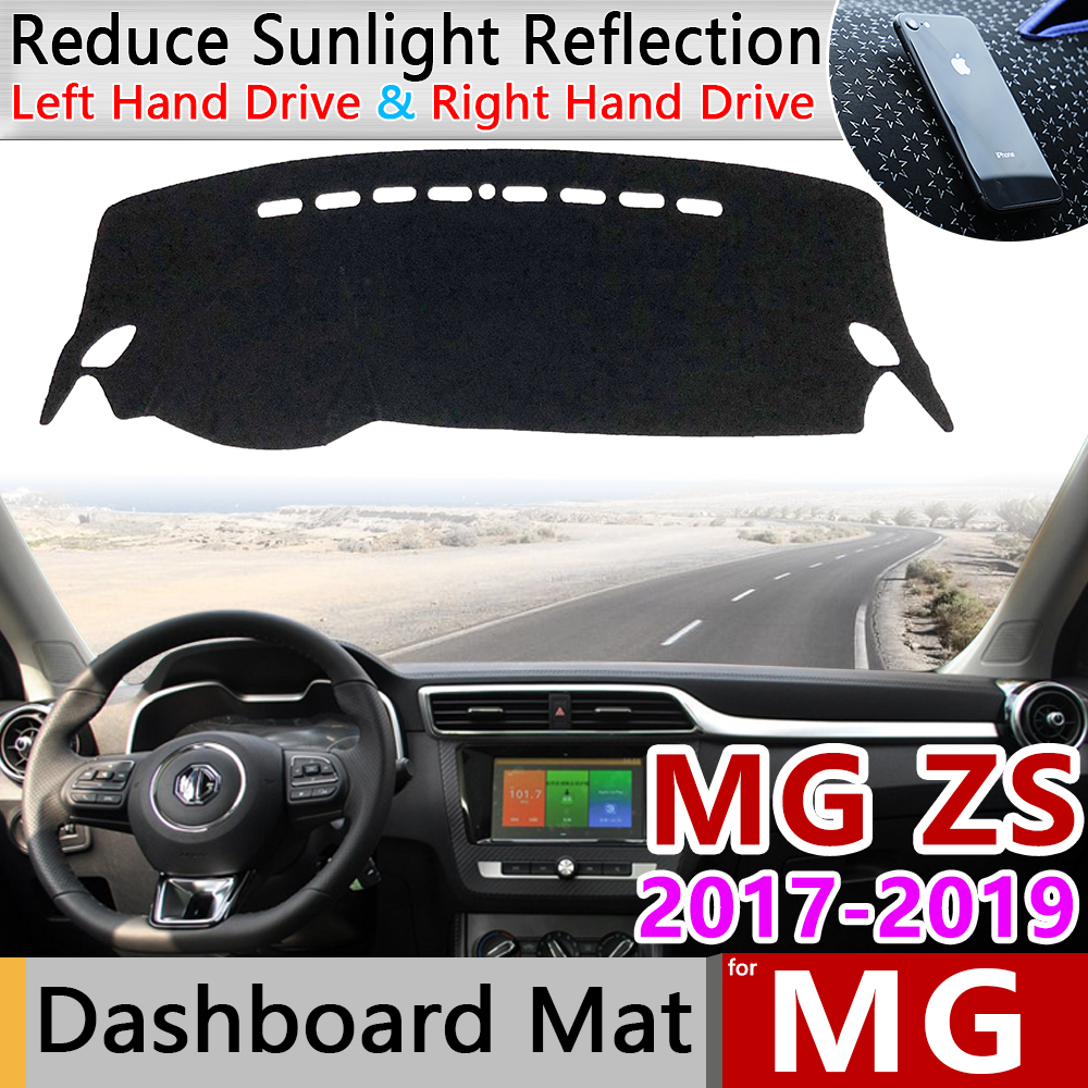 For MG ZS 2017 2018 2019 Anti-Slip Mat Dashboard Cover Pad Sunshade Dashmat Protect Carpet Anti-UV Cushion Car Accessories MGZS