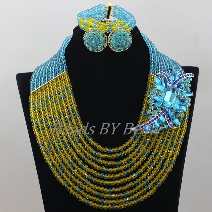 Gorgeous Yellow Beads Crystal Necklace Nigerian Wedding Party Beads New Women Costume African Jewelry Set Free Shipping ABF676Gorgeous Yellow Beads Crystal Necklace Nigerian Wedding Party Beads New Women Costume African Jewelry Set Free Shipping ABF676
