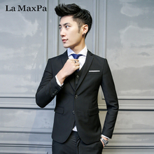 La MaxPa (jacket+pants+vest) 2017 male singer males swimsuit spring autumn character informal slim match promenade groom get together marriage ceremony swimsuit