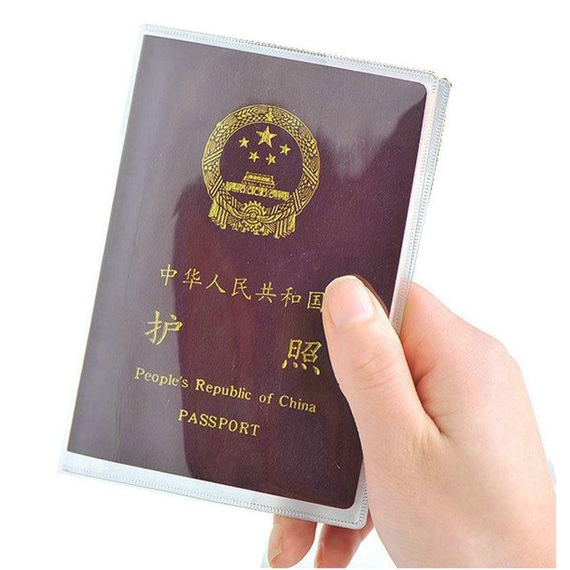 PVC Passport Cover Transparent Passport Cover Case Clear Waterproof travel document bag passport holder passport футболка passport pg221244 299