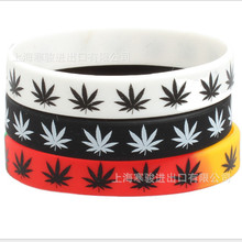 Jamaican punk reggae canna leaf silicone bracelet Jamaica Weed Sports Bangles Fluorescent Rubber Fitness Wristband Bracelet босоножки canna