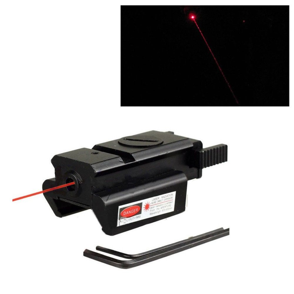 Free Shipping Red Dot Laser Sight Weaver Rail Mount 20mm For Picatinny Gun Compact font b