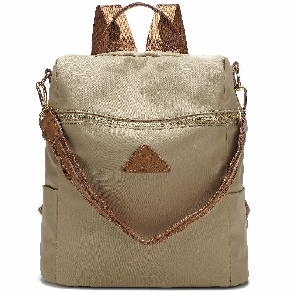 Vrouwen waterdichte nylon back pack dames schouder lichtgewicht reizen purse sling tassen voor vrouwen college boekentas - 2