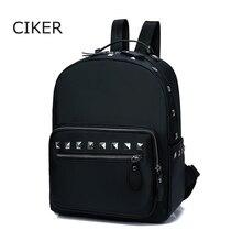 Ciker водонепроницаемый нейлон женщин рюкзаки школьные сумки случайные заклепки путешествия рюкзаки для девочек-подростков книга рюкзак mochila эсколар