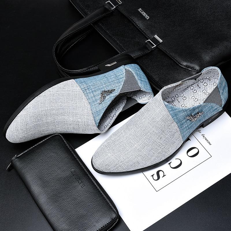 Men Shoes Casual Oxford Shoes For Men Spring Summer Fur Moccasins Men Flats Fashion Brand Male Shoes H175