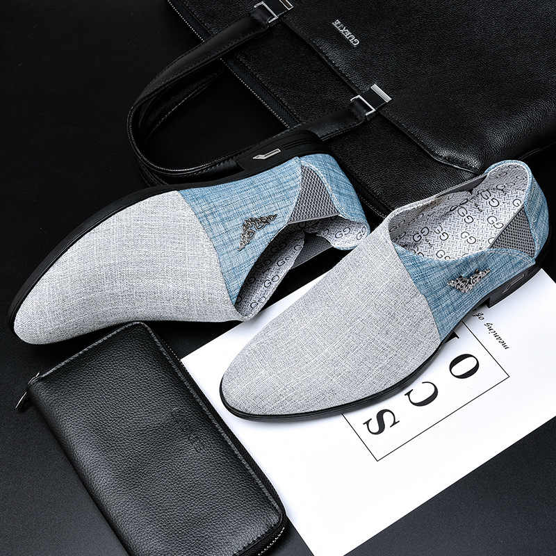 Men Shoes Casual Oxford Shoes For Men Spring Summer Fur Moccasins Men Flats Fashion Brand Male Shoes H175