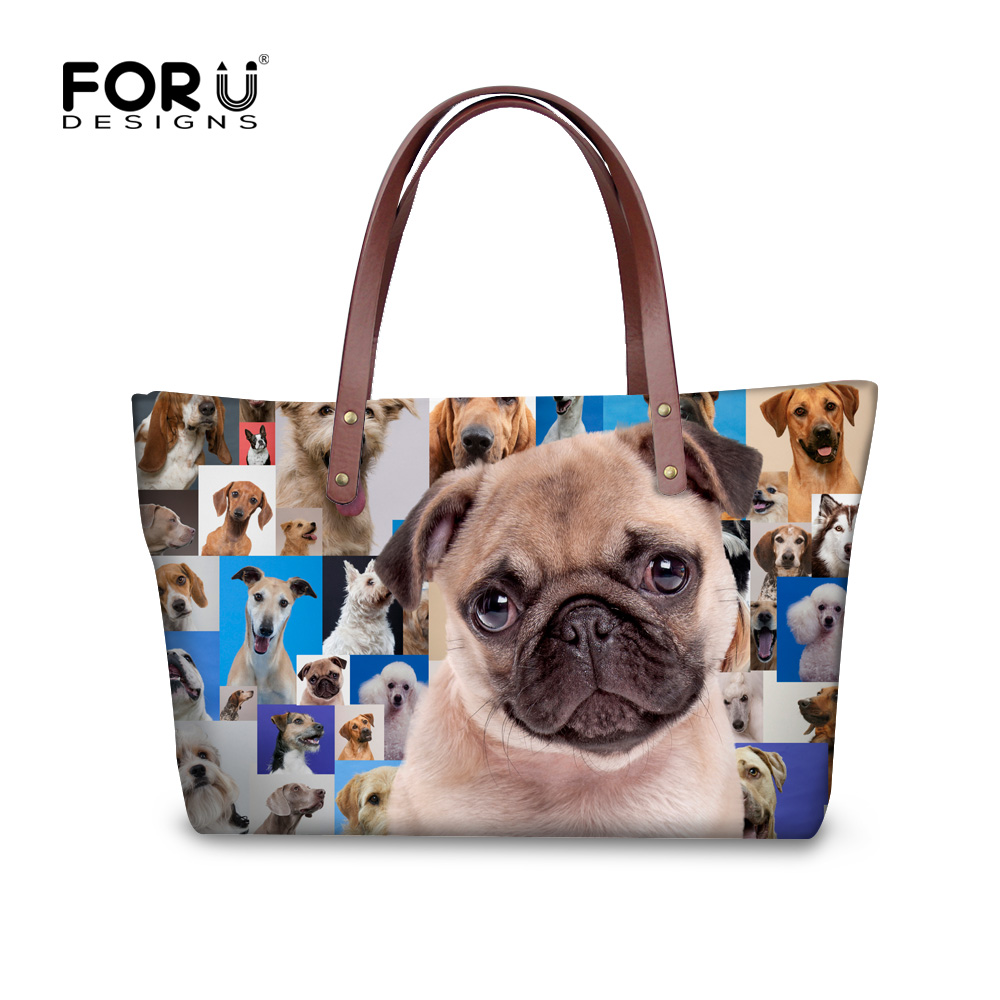 ФОТО Trendy 3d printed ladies shoulder bag cute french bulldog handbag bags for female famous brand tote bags bolsas top-handle bags