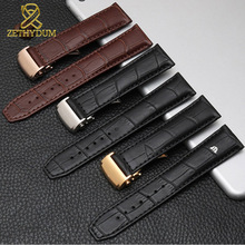 Genuine leather watch strap 20mm 22mm for MAURICE LACROIX watchband folding buckle leisure business cow leather bracelet