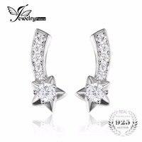 JewelryPalace Glitzernde in ein Star Form Zirkonia Echte 925 Sterling Silber Ohrstecker Für Frauen Modeschmuck